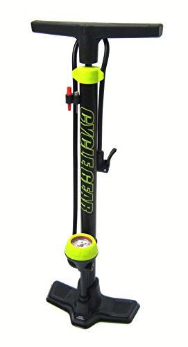 サイクルギア スポーツポンプ 圧力ゲージ付き 英式/仏式/米式バルブ対応 この1本で使い方いろいろな多目的ポンプ 安心安全のSG規格合格品 84466 ブラック/イエロー