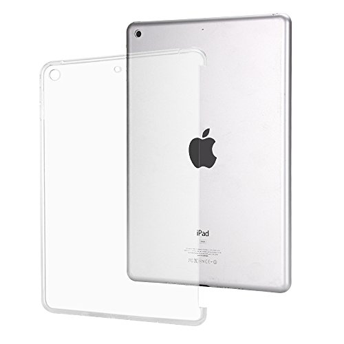 iPad 2017 9.7 Inch Case,Mektron Flexible Transparent Soft TPU Rubber Back Cover for Apple New iPad 9.7 Inch (2017 Release, Compatible with Smart Cover and Keyboard),Crystal Clear