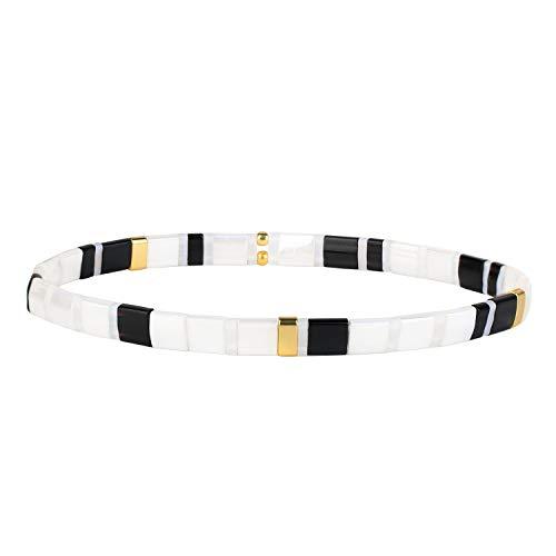 KANYEE Bracelets D'amitié Bracelets Perlés Tila Bracelets élastique Femme Bracelets Breloques Mode De Manchettes pour Cadeaux d'anniversaire