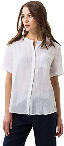 BRAX Damen Style Vania Linen Bluse, Weiß (White 99), (Herstellergröße: 36)