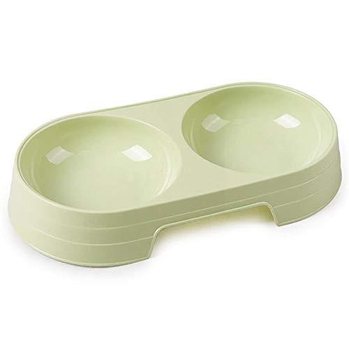 2 in 1 Pet Doppel Schüsseln kreativer Süßigkeit-Farben-Plastikschüssel Haustierfutter Wasser Feeder Hund Katze Bowl Pet die Fütterung (Color : Green, Size : M)