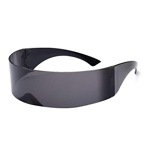 KOZSF Gafas De Sol Máscara De Sol De Diseño Futurista Divertido Para Mujer, Máscara De Monóculo Envolvente, Ideal Para Suministros De Decoración De Fiesta De Halloween-Negro_Como La Imagen