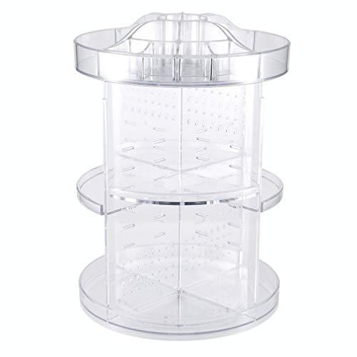 KKJLXX Make up Organizer Rotierende 360 Grade Raum, Multifunktions Klar Carousel Cosmetic Organizer mit 5 Schichten großer Kapazität, ideal for Aufsatz- Vanity Badezimmer Schlafzimmer