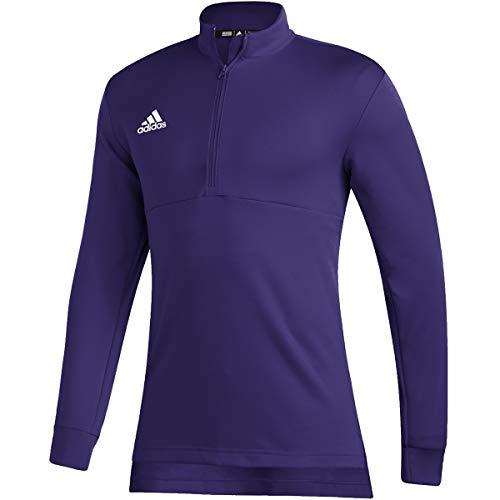 adidas Team Issue Quarter-Zip Top - Men's Casual LT Team Collegiate Purple/White