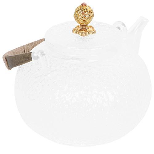 Hemoton Glazen Theepot Waterkoker Kookplaat Vaatwasserbestendig Glazen Kan Voor Zelfgemaakt Sap Ijsthee Koffie