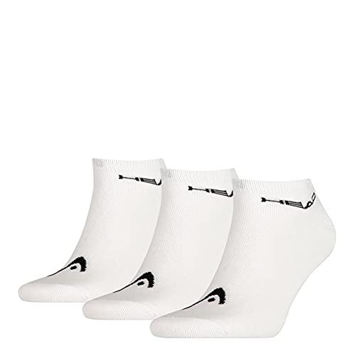 Head Sneaker 3p Unisex Calcetines, blanco, 43/46 (Pack de 3) para Hombre