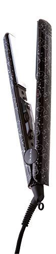 Plancha de pelo Graphic Black Natural. Placas titanio basculantes. Temperatura regulable hasta 230°. Cable giratorio 360°. Funda térmica de regalo.