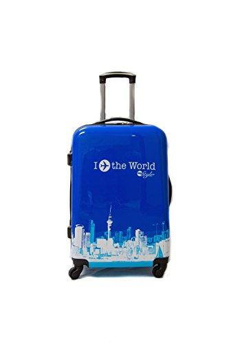 ADC Trolley Trolley caso 65cm Promedio de 4 ruedas de policarbonato (azul)