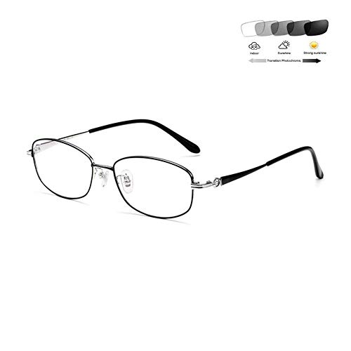 XYSQWZ Gafas De Lectura Fotocromáticas De Titanio Puro Ultr