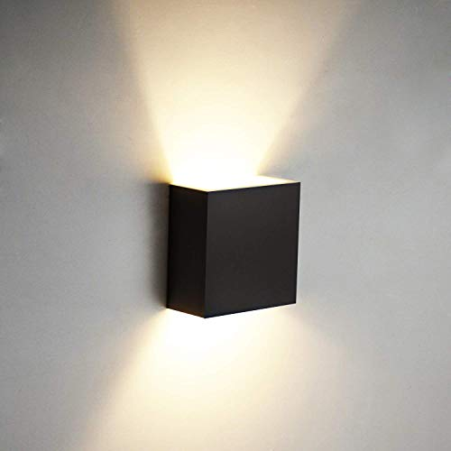 OOWOLF Moderna LED Aplique Para Pared, Lámpara De Pared Interior Decorativa Luz de Ambiente Para Dormitorio Cocina Sala De Estar Comedor Corredor Baño Terraza, Blanco Cálido