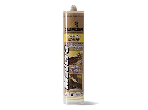 Quiadsa 52502320 Sellador Elástico para Madera, Roble, 300 ml