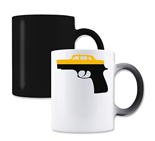 Taxi Driver Graphic Glock Magische kleur die thee-koffiemok verandert