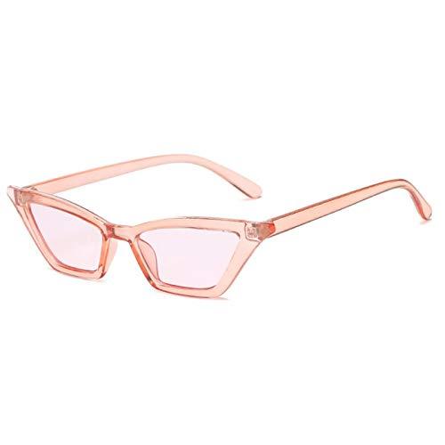 NJJX Gafas De Sol Vintage Para Mujer, Ojo De Gato, Gafas De Sol De Lujo, Retro, Pequeñas, Rojas, Gafas De Sol Para Mujer, Gafas De Moda, Pinkclear