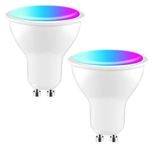YANZHU Tuya Zigbee Smart Gu10 LED Foco de Luz de La Bombilla Tuya/Vida Inteligente APP 4W RGBCW Voz Control con Alexa de Google