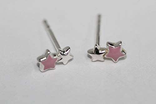LINKS OF LONDON Mr Men Star Drop Earrings Sterling Silver & Baby Pink Studs NEW