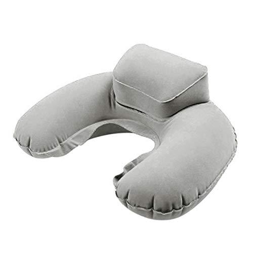 DAMAIA Tragbare U-Form-Hals-Stützkissen aufblasbare zervikale Traktionskissen Gesundheitspflege-Nackenstütze-Muskeln entspannte Ermüdungshilfe (Color : Gray)