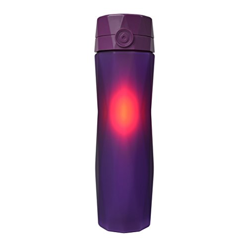 Hidrate Spark 2.0 Smart Water Bottle (Purple) - Tracks Water Intake & Glows to Remind You to Stay Hydrated