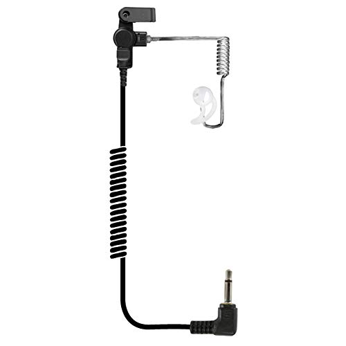 EAR PHONE CONNECTION Fox Listen Only Clear Long Tube Earpiece with 3.5mm Connector