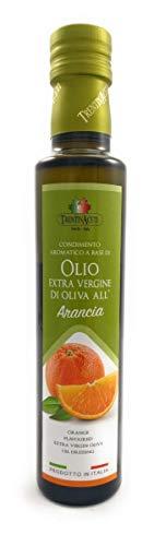 Extra Natives Olivenöl mit natürlichen Orangenaroma - 1x250 ml - Italienisches Orangen Olivenöl in höchster Qualität - TrentinAceti - kaltgepresst