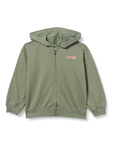 Levi's Kids LVG Oversized Full Zip Hoodie C733 Hooded Sweatshirt, Sea Spray, 14 Ans Fille