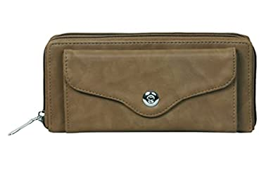 b4bags Women Wallet with Multiple Card Slots.PU Leather. Long Ladies Purse
