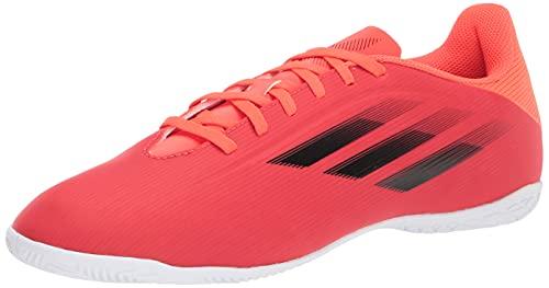 adidas Unisex X Speedflow.4 Indoor Soccer Shoe, Red/Black/Solar Red, 10.5 US Men