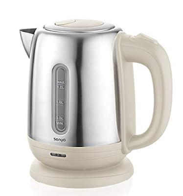 Senya bouilloire électrique Inox Little Tea, bouilloire sans fil, capacité 1.2L, 1500W, SYBF-K025C