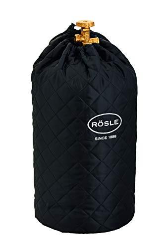 RÖSLE Abdeckhaube für Gasflasche mit 11 kg Füllgewicht, Schutzhülle, 100% Polyester, mit praktischem Klettverschluss und Zugband