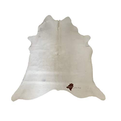 Tapis en peau de vache White (Cod. 390)