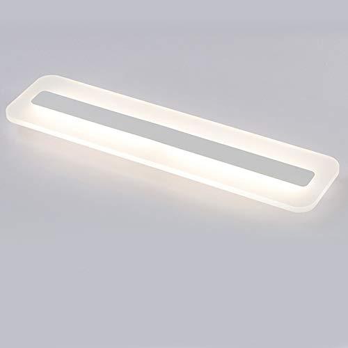 Espejo Nórdico Luz Led Luz De La Pared Decoración De La Sala Acrílico Baño Luz Lámpara De Pared Escalera Dormitorio Lámparas De Noche L80Xw15Cm Blanco