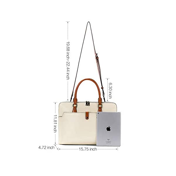 CLUCI Briefcase for Women Oil Wax Leather 15.6 Inch Laptop Slim Business Large Capacity Ladies Shoulder Bags 3