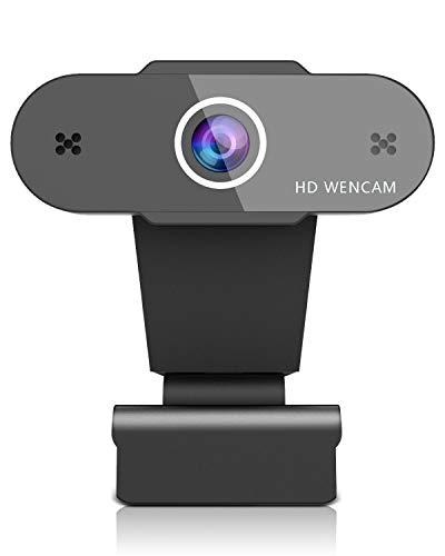 OVIFM Webcam mit Mikrofon,Full HD 1080P USB Web Cam für PC, Laptop, Mac, Streaming Web Kamera mit Autofokus und Weitwinkel für YouTube, Skype Videoanrufe, Lernen, Konferenz, Spielen