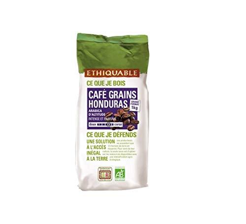 Ethiquable Café Grains Honduras Équitable & Bio 1 kg Paysans Producteurs