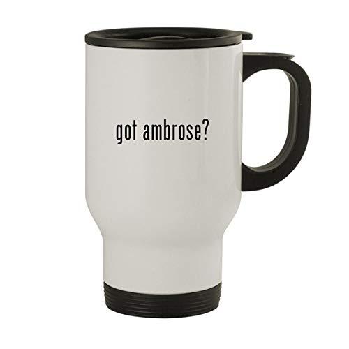 got ambrose? - Stainless Steel 14oz Travel Mug, White