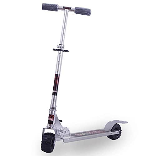 Scooter Plegable para Adultos, Scooter de Rueda de Goma con Altura Ajustable, Scooter Ligero para Adolescentes de 3,5 kg, Rueda de 100 * 699 mm