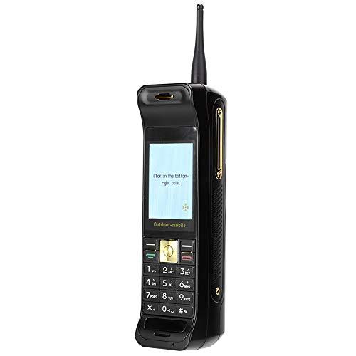 Teléfono móvil empresarial de 2,2 '', banco de energía móvil de 16800 Mah, teléfono móvil retro con apariencia de lujo, tarjeta SIM doble y modo de espera doble, con linterna(negro)