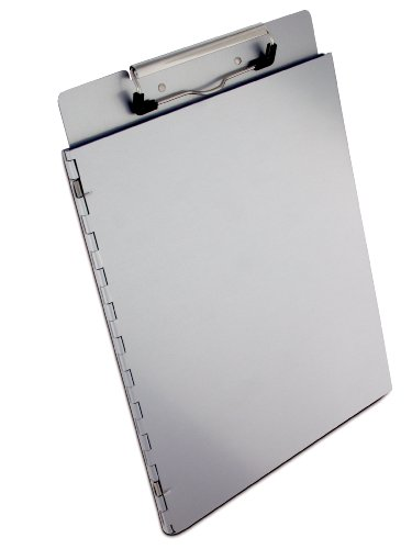 Saunders Recycled Aluminum Portfolio Clipboard – Letter Size File Holder with Privacy Cover. School Supplies