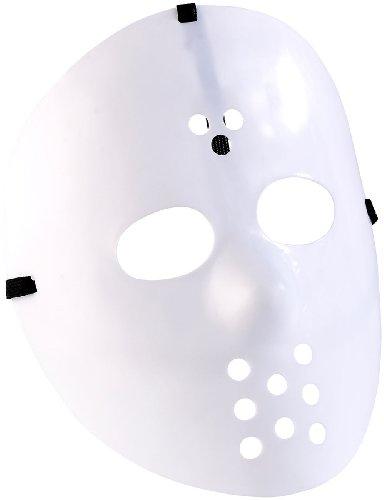 infactory Masken für Kostüme: Hockey-Maske für Halloween, weiß (Gruselige Masken)