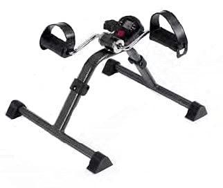 Pedalier   Aparato ejercitador de brazos y piernas a la vez  Apuesta por el deporte en casa   Intensidad variable   Con cintas regulables en el pedal  Color cromado