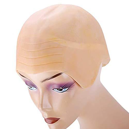 Fornateu Latex Bald Head Cap Props Prop kahl Skinhead Wig-Dekor-Werkzeug-Kostüm Cosplay Partei Halloween Kopfbedeckung Zubehör