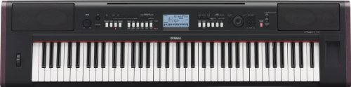Yamaha NP-V80 NPV-80 - Piano digital (plástico, 76 teclas, 2 altavoces integrados, conector tipo USB), color negro
