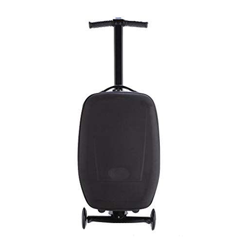 LLRDIAN Scooter Trolley Travel Boarding Luggage Suitcase Luggage Suitcase can Slide (Color : A, Size : 38×24×52cm)