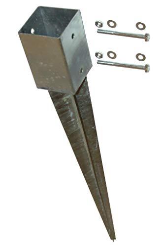 Einschlagbodenhülse 9x9x75 cm inkl. Befestigungsset