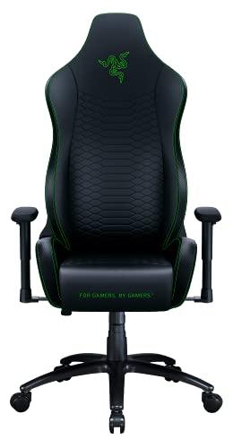 Razer Iskur X ゲーミングチェア Black Green エルゴノミクス設計 多層合成レザー 高密度フォームクッション 2Dアームレスト 【日本正規代理店保証品】 RZ38-02840100-R3U1