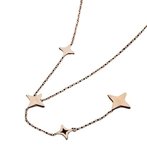 Einfache Netto-promi-temperament-halskette Weibliche Nischen-schlüsselbeinkette Netz-promi-halskette 1