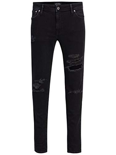 JACK & JONES Herren Jjiliam Jjoriginal Am 502 Lid Sts Skinny Jeans, Black Denim, 36W 34L EU