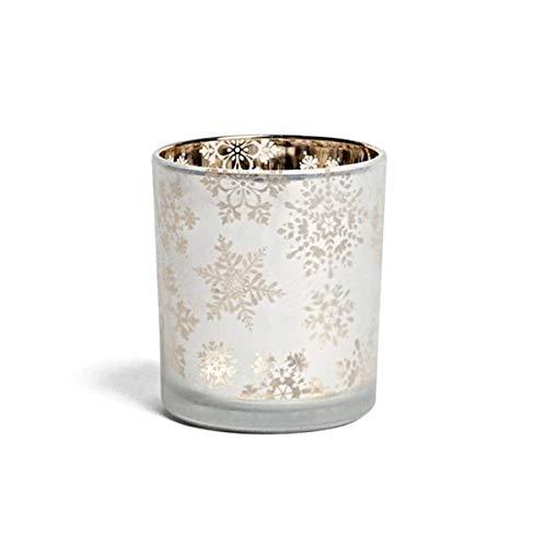 YANKEE CANDLE Porta Candela Votive Holder Snowflake Frost