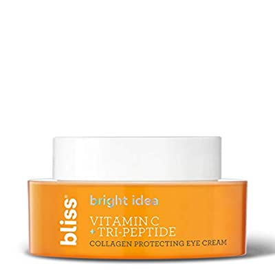 Bliss Bright Idea Vitamin C & Tri-Peptide Collagen Protecting Eye Cream, Brightens & Revives Eye Area, Cruelty-Free & Vegan, 0.5 oz