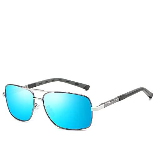 Gafas de Sol Sunglasses Gafas De Sol Polarizadas Clásicas Hombre, Gafas De Lujo, Conducción Al Aire Libre Vintage, Gunblue FemininoAnti-UV