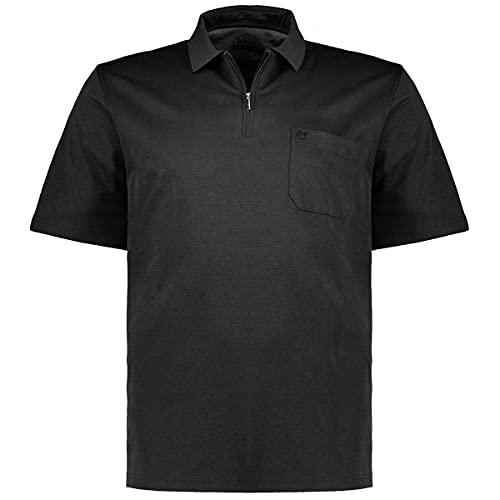 hajo Herren H RV Softknit Poloshirt, Black (Schwarz 100), XX-Large (Herstellergröße: 56)